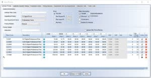 Printmatics custom pricing software feature.