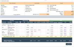 Printmatics cost estimating software feature