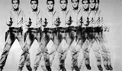 Screen Print Example - Eight Elvises by Andy Warhol
